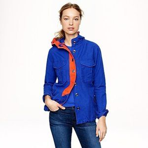 J.CREW Blue + Orange Colorblocked Anorak Jacket